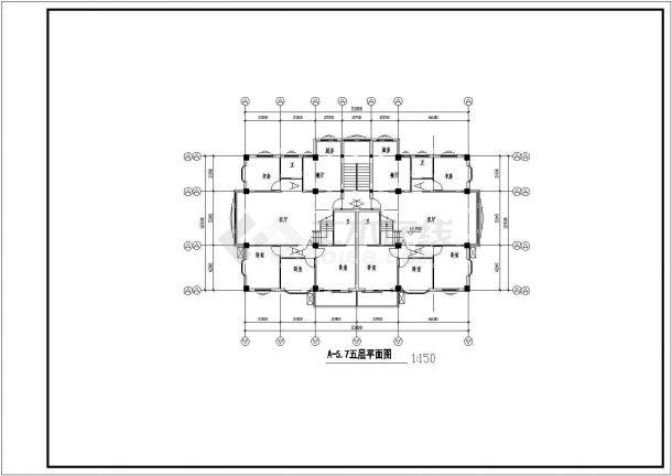 温州某住宅小区设计CAD详细大样完整建筑平面图-图一