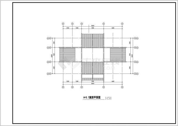 温州某住宅小区设计CAD详细大样完整建筑平面图-图二