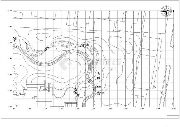 某苏州小游园CAD全套设计完整园林施工图纸-图一
