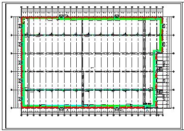 大型工业厂房采暖cad平面设计施工图纸-图二