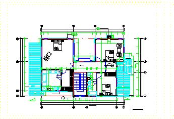 帝豪花园某二层别墅cad全套施工图纸-图一