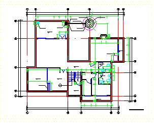 帝豪花园某二层别墅cad全套施工图纸-图二