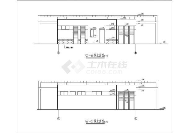 1层景观公厕施工设计图纸(建筑设计说明 平面布置图 屋顶构架平面图 三轴立面 一剖面 座便器平立面)-图二