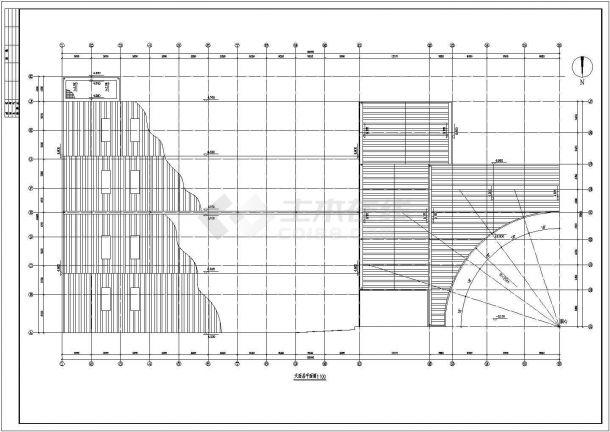 某商场设计CAD建筑施工完整方案图-图二