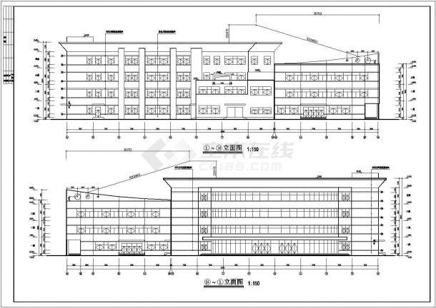 4层23228.36平米学校餐厅全套建筑施工设计cad图【平立剖 总平】-图二