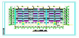 住宅楼建筑CAD设计全套施工图纸-图一