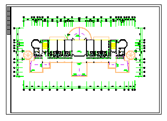 某会所建筑全套设计施工图纸-图一
