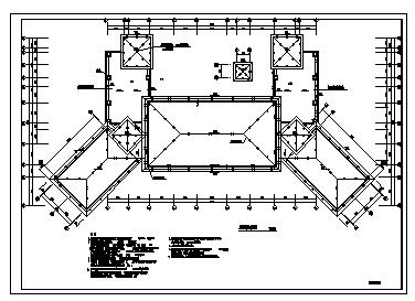 某四层会所电气施工cad图(含照明配电,防雷与接地,火灾自动报警系统设计)-图二