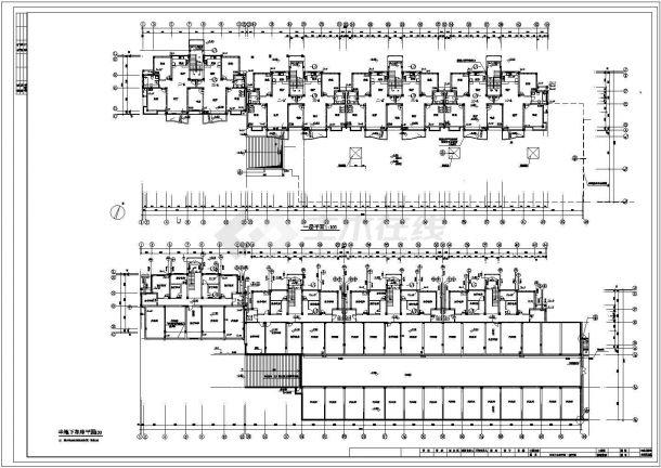 长81.41米 宽24.18米 -1+5+1阁楼层(1梯2户4单元)住宅楼建筑设计施工图-图二