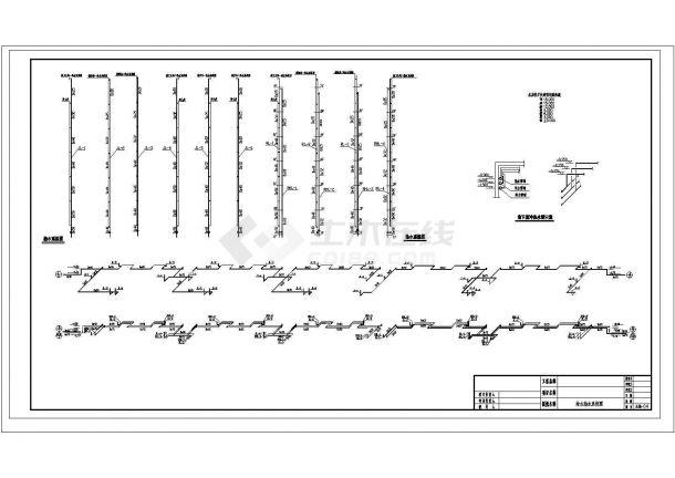长83.3米 宽13.4米 -1+7层(1梯2户5单元)住宅楼建筑设计施工图-图一
