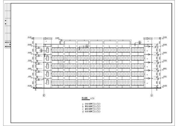 某多层厂房建筑CAD大样全套详细构造设计施工图-图一