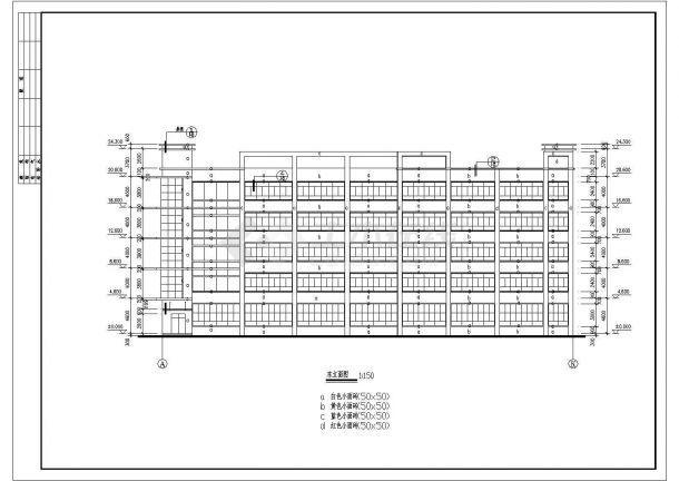 某多层厂房建筑CAD大样全套详细构造设计施工图-图二