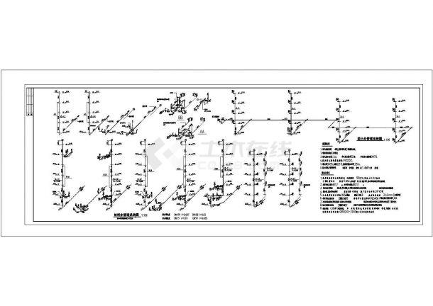 长70.2和67.2米 宽17.1和17.4米 6层(1梯2户3-4单元3栋)住宅楼建筑设计施工图-图一