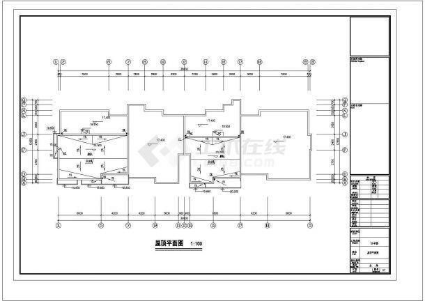 长63.5米 宽12.85米 6+1跃层小区18#住宅楼建筑设计施工图-图一