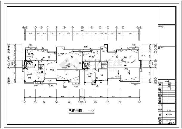 长63.5米 宽12.85米 6+1跃层小区18#住宅楼建筑设计施工图-图二