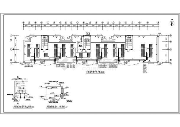 长55米 宽13米 6层(1梯2户3单元)住宅楼建筑设计施工图-图二