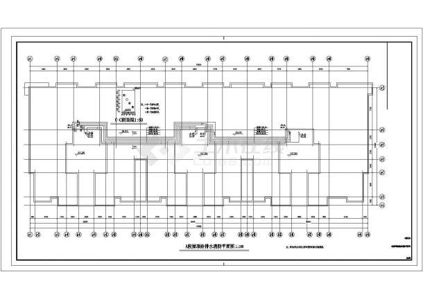 长64米 宽21.5米 33层(1LT1DT2户3单元)住宅楼建筑设计施工图-图一