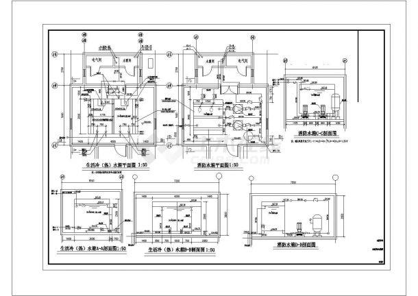 长64米 宽21.5米 33层(1LT1DT2户3单元)住宅楼建筑设计施工图-图二