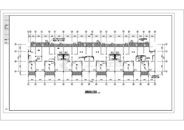 长53.1米 宽12.9米 1车库+5+1阁楼层(1梯2户3单元)住宅楼建筑设计施工图-图二