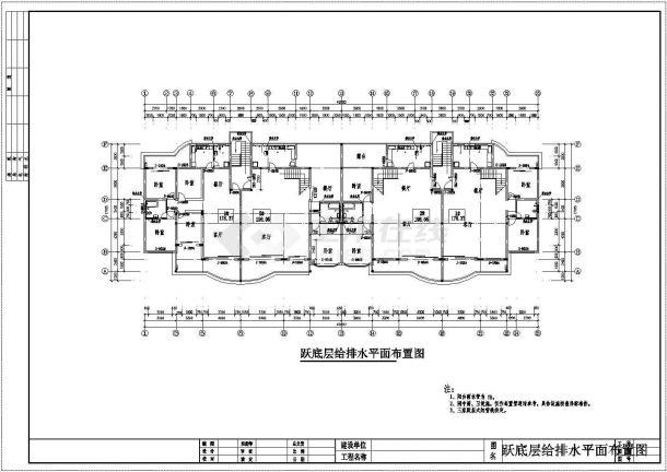 长49.2米 宽17.1米 4+1跃层(1梯2户2单元)住宅楼建筑设计施工图-图二
