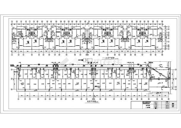长91.9米 宽12.3米 1车库+7层(1梯2户4单元)住宅楼建筑设计施工图-图一