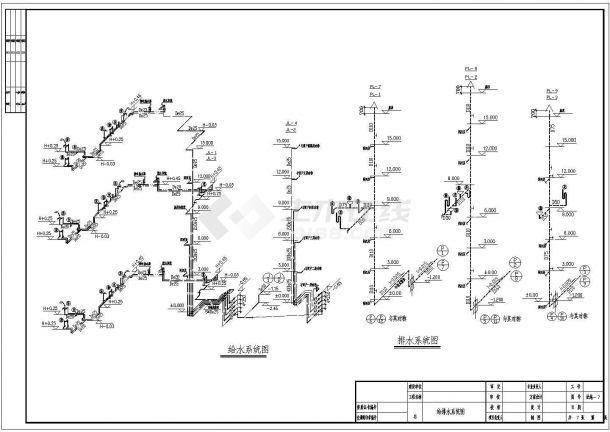 长47.4米 宽12米 -1+5+1阁楼层(1梯2户2单元)住宅楼建筑设计施工图-图二