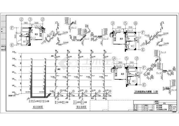 长47.4米 宽12.9米 1车库+6+1阁楼层(1梯2户3单元)住宅楼建筑设计施工图-图一