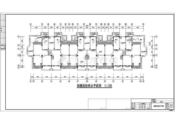 长47.4米 宽12.9米 1车库+6+1阁楼层(1梯2户3单元)住宅楼建筑设计施工图-图二