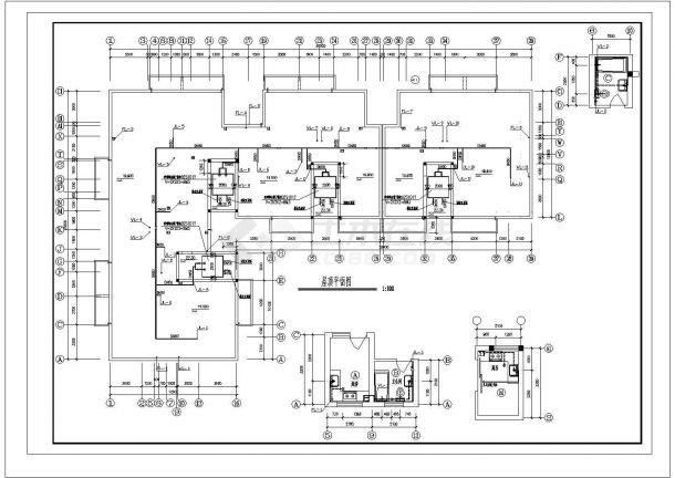 长40米 宽25.5米 6+1跃层L型住宅楼建筑设计施工图-图二