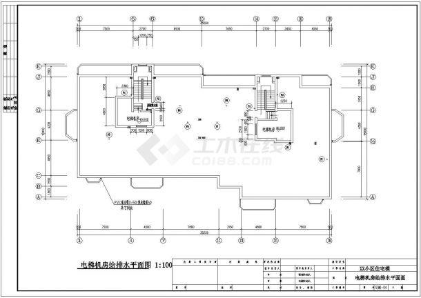 长35.55米 宽18.9米 12层小区住宅楼建筑设计施工图-图一