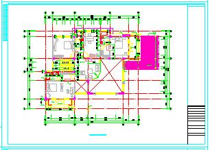 某三层带天台别墅cad建筑设计图纸-图一
