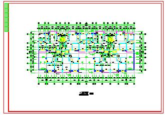 某两单元高层住宅cad建筑设计施工图带效果图-图一