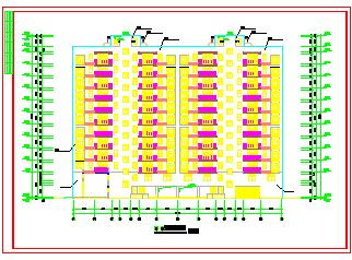 某两单元高层住宅cad建筑设计施工图带效果图-图二