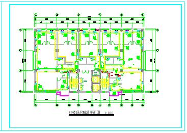 某高层住宅楼采暖防排烟cad设计图节点图-图一