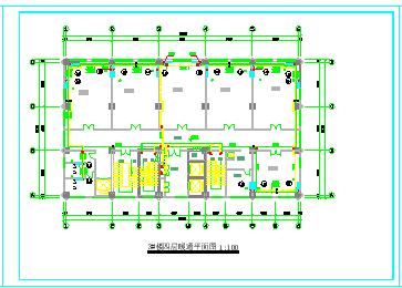 某高层住宅楼采暖防排烟cad设计图节点图-图二