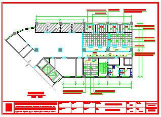 某城市某保险公司大楼CAD全套装修设计图纸-图一