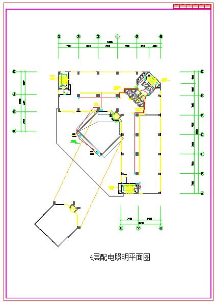 某大型机房配电cad施工设计图纸-图一