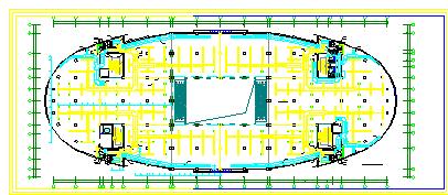 某大型暖通空调系统整套施工cad方案图纸-图一