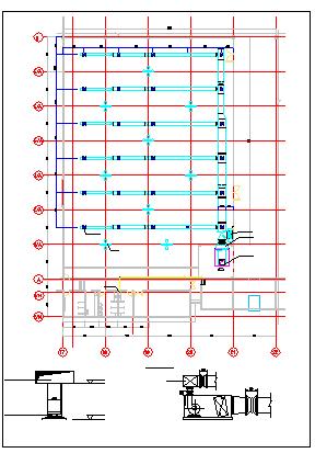 某仓库空调全套施工cad设计图纸-图二