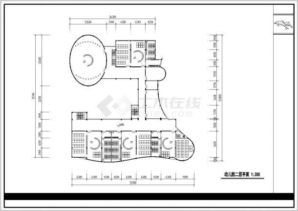 某五层幼儿园教学楼建筑设计方案图-图二