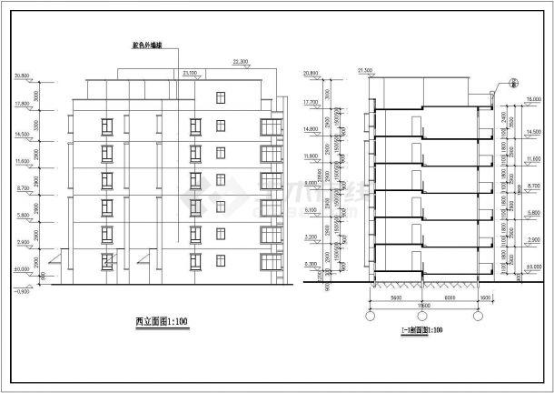 苏州市吴秋北路某小区6层砖混结构住宅楼建筑设计CAD图纸-图一