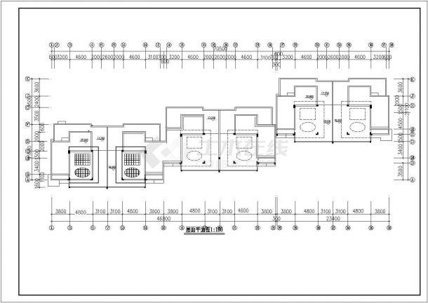 苏州市吴秋北路某小区6层砖混结构住宅楼建筑设计CAD图纸-图二