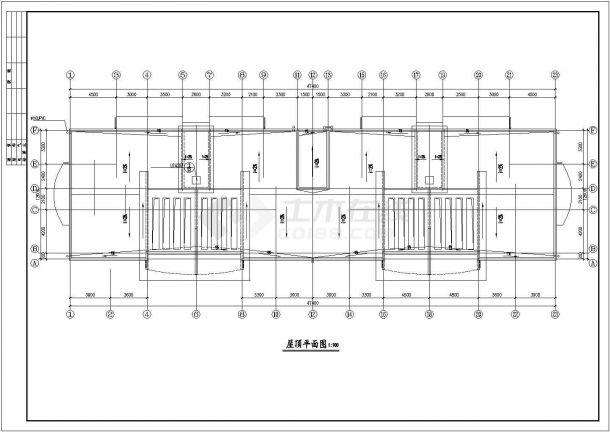 宿迁市某小区3510平米5层砖混结构住宅楼建筑设计CAD图纸(含地下层)-图一