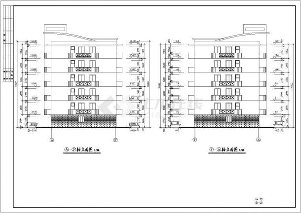 宿迁市某小区3510平米5层砖混结构住宅楼建筑设计CAD图纸(含地下层)-图二