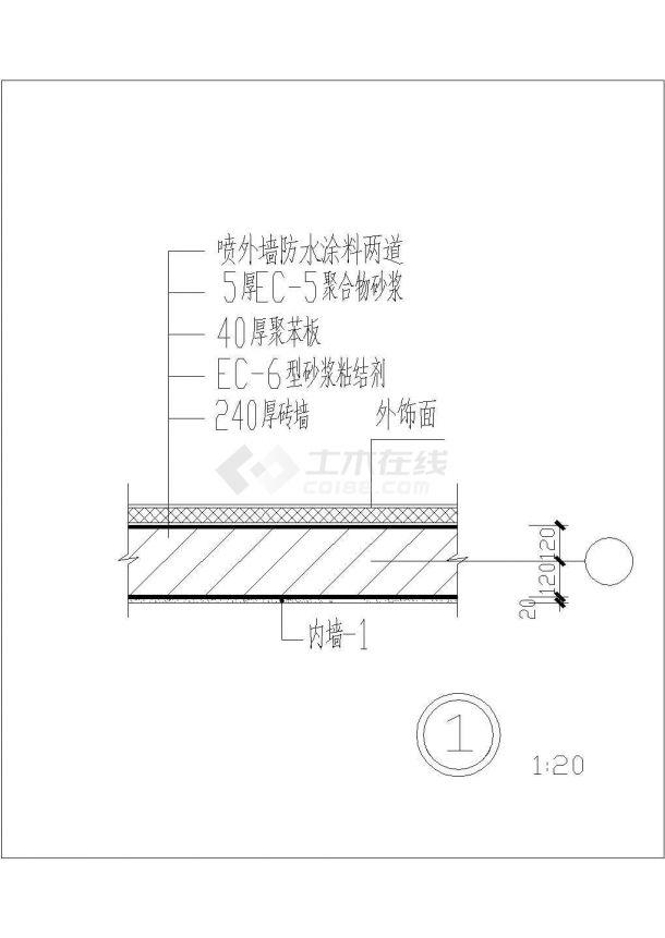 某五层经典住宅建筑方案设计施工CAD图纸-图二