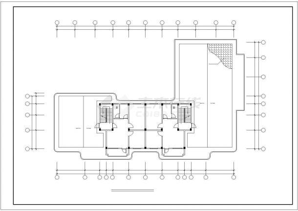 攀枝花市广南路某拆迁安置住宅区9层砖混结构住宅楼建筑设计CAD图纸-图一