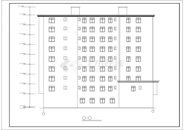 攀枝花市广南路某拆迁安置住宅区9层砖混结构住宅楼建筑设计CAD图纸-图二