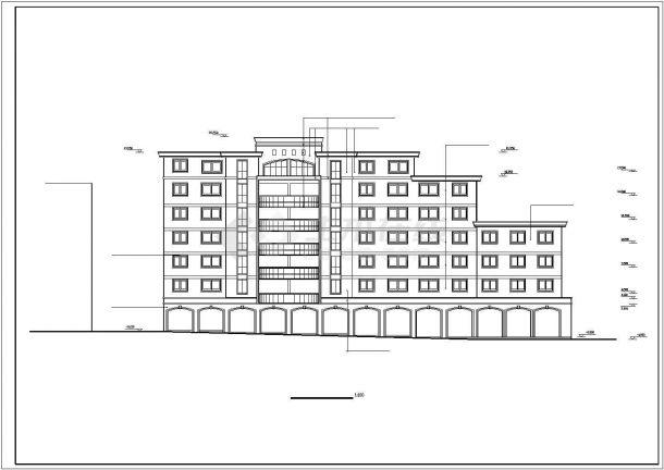 芜湖市阳江路阳光花园小区7层砖混结构住宅楼建筑设计CAD图纸-图一