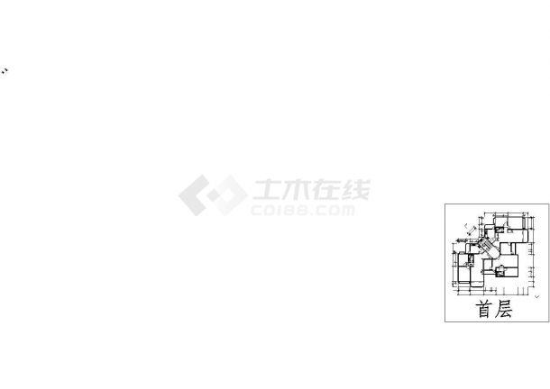 厦门市学校家属区5层砖混结构住宅楼平立面设计CAD图纸-图二