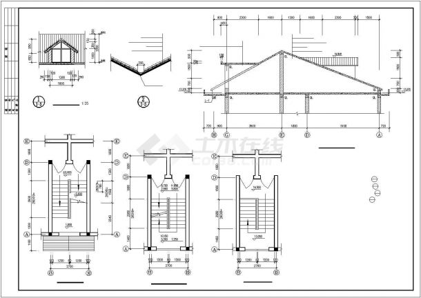 汉中市澜福花园小区1520平米6层砖混结构住宅楼建筑设计CAD图纸-图二